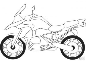 Motorcycle Coloring Pages BMW Adventure Bike