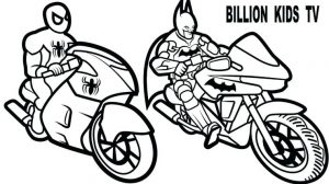 Motorcycle Coloring Pages Batman Motorcycle