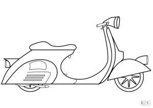 Motorcycle Coloring Pages Expensive Piagio Vespa