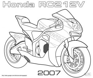 Motorcycle Coloring Pages Honda Moto GP