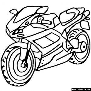 Motorcycle Coloring Pages Kids Printable