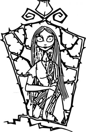 Nightmare Before Christmas Coloring Pages Printable sef7