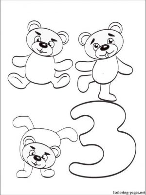 Number 3 Coloring Page – 3a73n