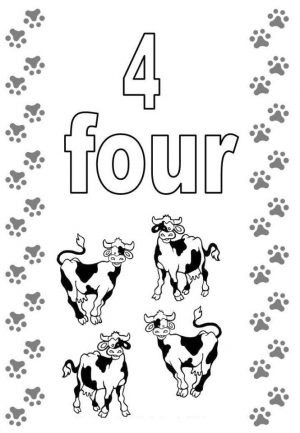 Number 4 Coloring Page – 4a74m