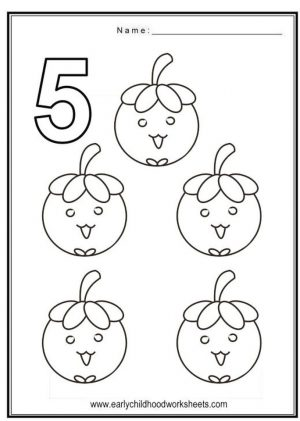 Number 5 Coloring Page – 562s5