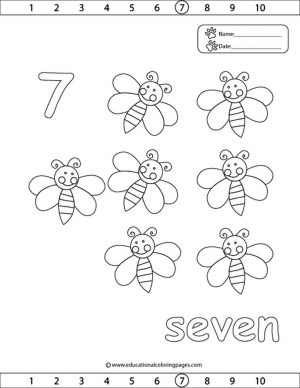 Number 7 Coloring Page – 7cgf7