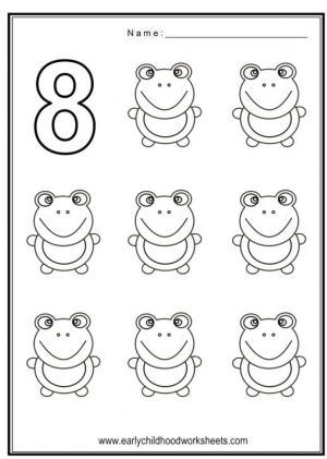 Number 8 Coloring Page – 8f785