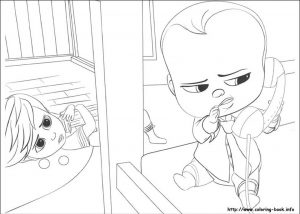 Online Boss Baby Coloring Pages for Kids – 80431