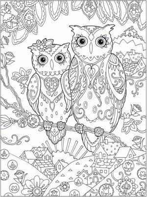 Owl Adult Coloring Pages Free Printable oc82