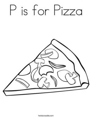 P Is for Pizza Coloring Pages msh2