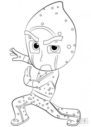 PJ Masks Coloring Pages The Stealthy Night Ninja