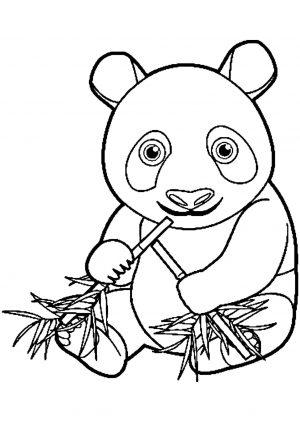 Panda Coloring Pages Free