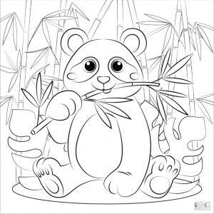 Panda Coloring Pages for Kids