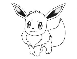 Pokemon Eevee Coloring Pages Online 1lx2