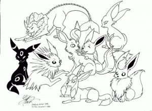 Pokemon Eevee Coloring Pages to Print 0pt1
