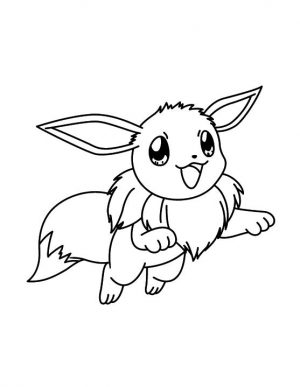 Pokemon Eevee Coloring Pages to Print 7nd8