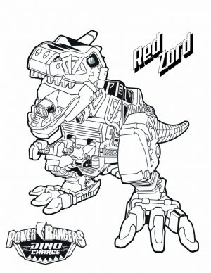 Power Ranger Dino Force Coloring Pages for Kids – 15278