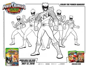 Power Ranger Dino Force Coloring Pages for Kids – 51173
