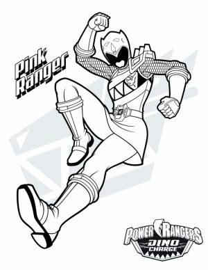 Power Ranger Dino Force Coloring Pages for Kids – 57192