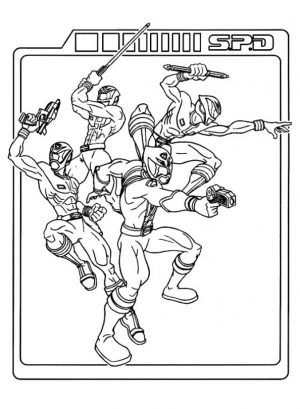 Power Rangers Coloring Pages for Kids 2wtm