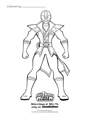 Power Rangers Coloring Pages for Kids 6sps