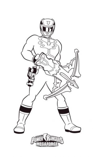 Power Rangers Coloring Pages for Kids 7arc