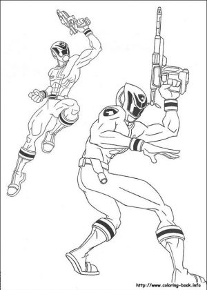 Power Rangers S.P.D. Coloring Pages Free Printable