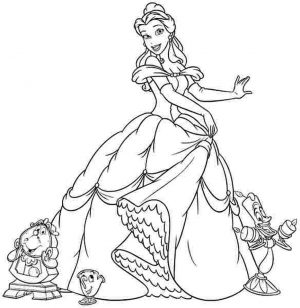 Princess Belle Girls Coloring Pages to Print Online – 46291