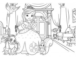 Princess Sofia the First Coloring Pages to Print Out for Girls – 92193