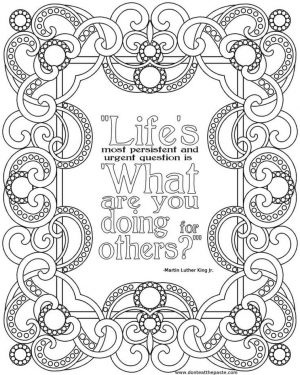 Printable Adult Coloring Pages Quotes Help Each Other