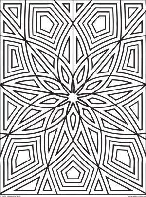 Printable Geometric Coloring Pages for Adults – 14756