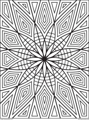 Printable Geometric Coloring Pages for Adults – 25549