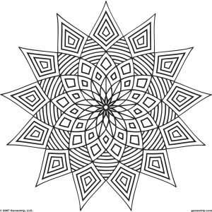 Printable Geometric Coloring Pages for Adults – 45192