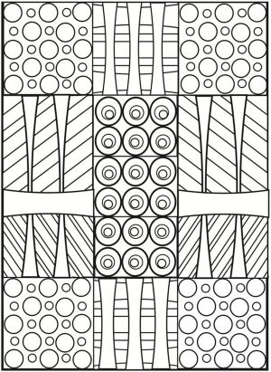 Printable Geometric Coloring Pages for Adults – 53419