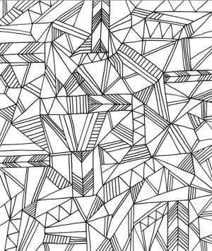 Printable Geometric Coloring Pages for Adults – 67381