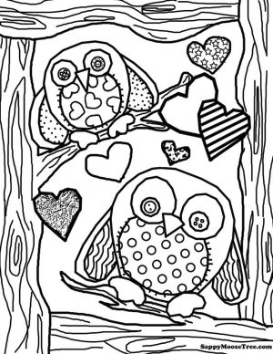 Printable Owl Coloring Pages for Grown Ups oo10