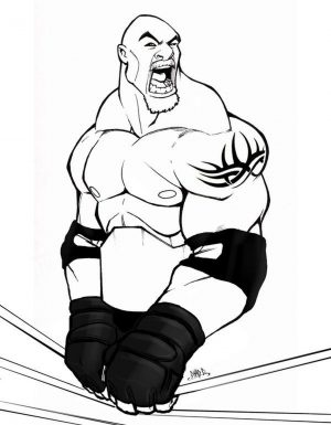 Printable wwe coloring pages goldberg – 21957