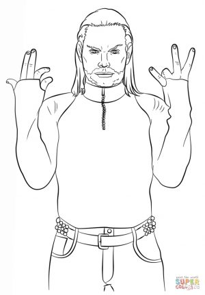 Printable wwe coloring pages jeff hardy – 54891