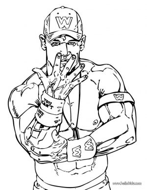 Printable wwe coloring pages john cena – 42971