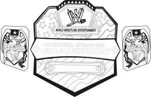 Printable wwe coloring pages of belts – 32717