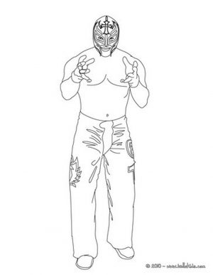 Printable wwe coloring pages rey mysterio – 47211