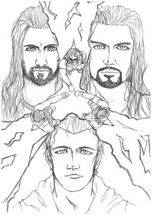 Printable wwe coloring pages roman reigns – 21893
