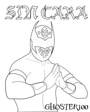 Printable wwe coloring pages sin cara – 31906