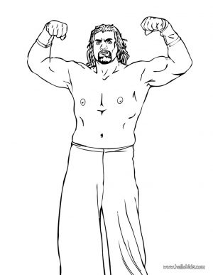 Printable wwe coloring pages the great khali – 75620