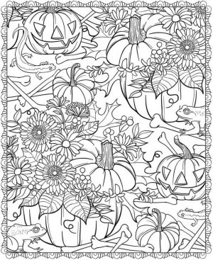Pumpkin Coloring Pages for Adults Free – 7316s