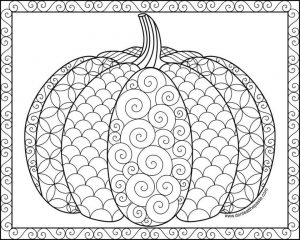 Pumpkin Coloring Pages for Adults Free – yvbf1