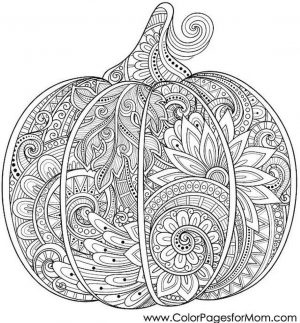 Pumpkin Coloring Pages for Adults Printable – 52184