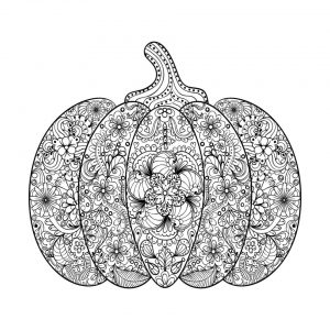 Pumpkin Coloring Pages for Adults Printable – 7cvda