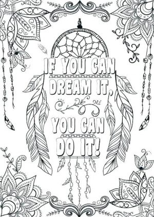 Quote Coloring Pages