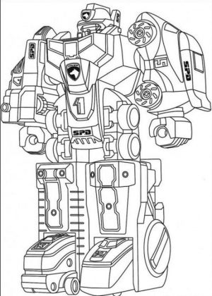 Robot Coloring Page Images Megazord Robot from Power Rangers